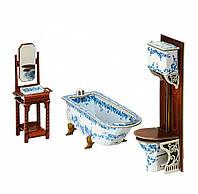 """Коллекционный набор мебели """"Ванная комната"""". Объемный пазл. Материал: картон."""