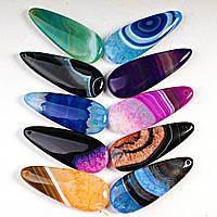 [55x20 мм] Кулоны из разноцветного Агата на выбор.Цена за шт.