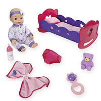 Пупс You & Me  с кроваткой  Baby & Rocking Cradle, фото 1
