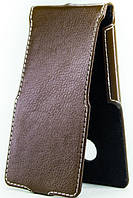 Чехол Status Flip для Lenovo A800 Brown