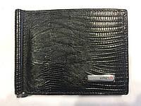 Зажим для денег кожаный черный, фото 1