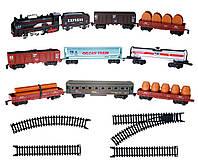 Набор игровой «Железная дорога с 9 вагонами»