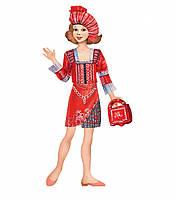 """Игровой набор для девочек из картона: (наряжай - и играй). Кукла """"Этно"""""""