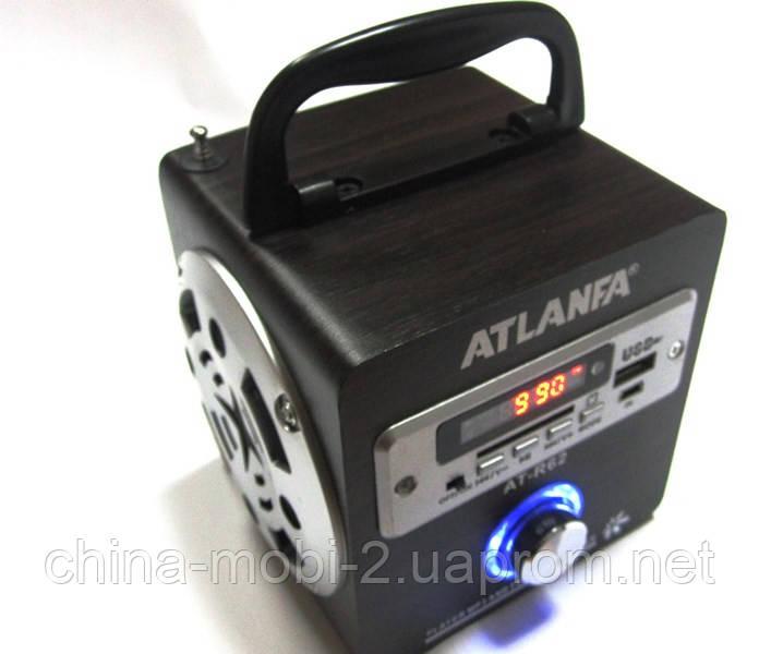 Акустика Atlanfa AT-R62, MP3/SD/USB/FM, brown