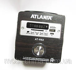 Акустика Atlanfa AT-R62, MP3/SD/USB/FM, brown, фото 3