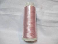 Нитки для машинної вишики 100% віскоза (100% rayon) 3000 ярдів, №126, ніжно-рожевий