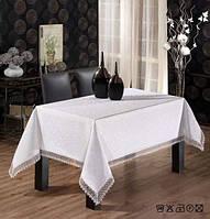 """Скатерть для стола """"KDK"""" 160х220, кремовый"""
