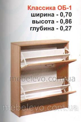 Тумба для обуви ОБ-1 Классика МДФ   860х700х270мм  Абсолют, фото 2