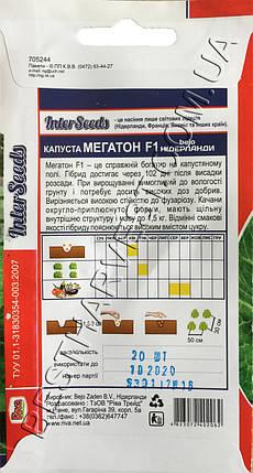 Семена капусты Мегатон F1 0.5 г, фото 2
