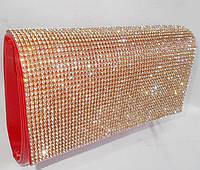 Женский праздничный клатч 63716 Свадебные клатчи,вечерний клатч, клатч со стразами, жемчужный клатч