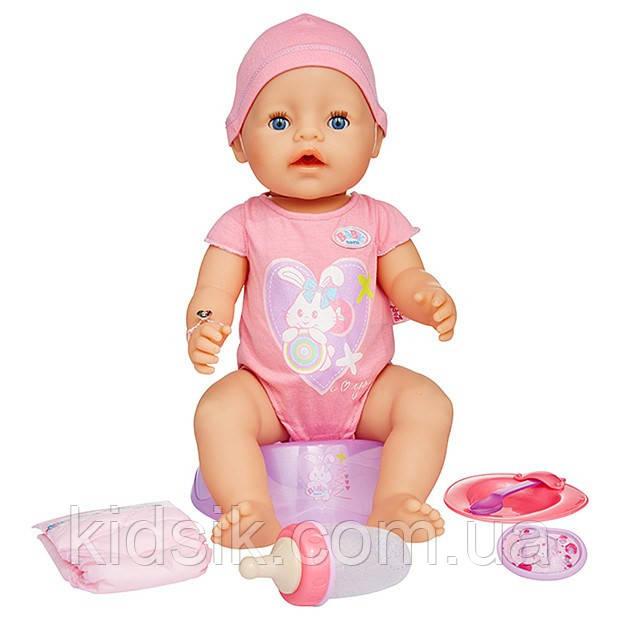 Пупс, Кукла Baby Born Очаровательная малышка (43 см, с чипом и аксессуарами), коралловый боди, фото 1