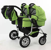 Универсальная коляска 2 в 1 Tako Jumper Duo (зеленый-черный)