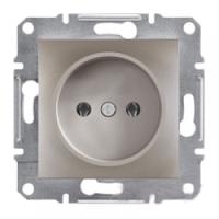 Розетка без заземления, бронза - Schneider Electric Asfora