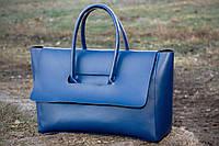 Стильная сумка женская, синяя