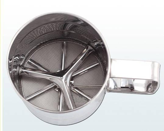 Механическое сито, кружка-сито для просеивания муки 500 грамм , фото 2