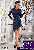 Элегантное темно-синее мини-платье (р.S, M, L) арт. 10809