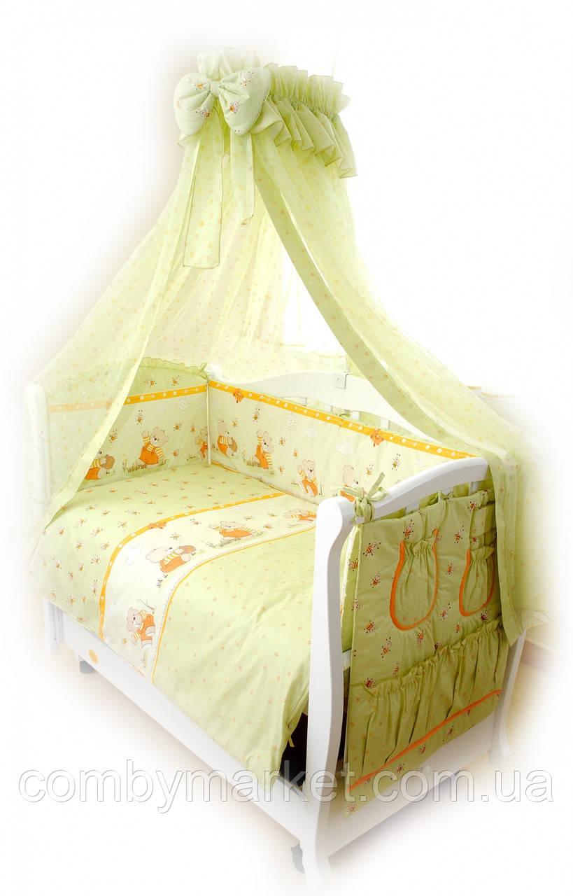 Комплект в детскую кроватку Twins Comfort Basic С-009 Медуны