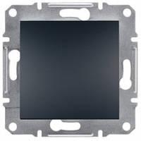Выключатель 1-клавишный, антрацит - Schneider Electric Asfora