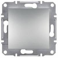 Выключатель 1-клавишный, алюминий - Schneider Electric Asfora