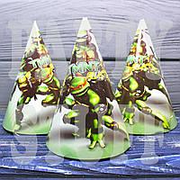 Колпачки праздничные Черепашки-ниндзя, 16 см , фото 1