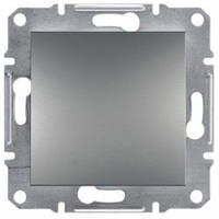 Выключатель 1-клавишный, сталь - Schneider Electric Asfora