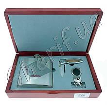 Подарочный набор с флягой FW011-2 (фляга 1406YB-10, ножик туристический, брелок K40122)