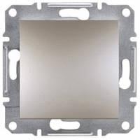 Выключатель 1-клавишный, бронза - Schneider Electric Asfora