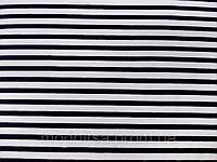 Трикотаж вискозный Морячка (т. синий, белый) (арт. 05826)