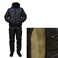 Зимний спортивный костюм на овчине большого размера  F11517HG