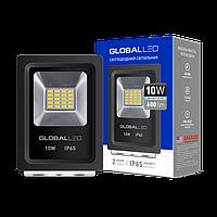 Прожектор светодиодный 10Вт, 600Лм, 5000К, IP65, черный GLOBAL FLOODLIGHT
