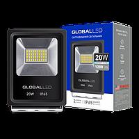 Прожектор светодиодный 20Вт, 1200Лм, 5000К, IP65, черный GLOBAL FLOODLIGHT