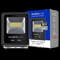 Прожектор светодиодный 30Вт, 1800Лм, 5000К, IP65, черный GLOBAL FLOODLIGHT