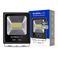 Прожектор светодиодный 50Вт, 3000Лм, 5000К, IP65, черный GLOBAL FLOODLIGHT