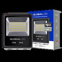 Прожектор светодиодный 70Вт, 4200Лм, 5000К, IP65, черный GLOBAL FLOODLIGHT