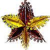 Новогоднее украшение Звезда красно золотая 50см