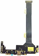Шлейф для Lenovo K920 с коннектором зарядки, вибратором и микрофоном Original