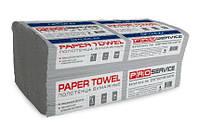 PRO service эконом полотенца бумажные в листах V-сложение, серый макулатурный