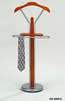 Тремпель металлический с деревянной вешалкой CH-4089-C