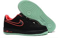 Мужские кроссовки  Nike Air Force 1 low (black/red) - 01Z
