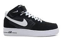 Мужские кроссовки  Nike Air Force 1 high (black/white) - 08Z