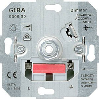 Механизм светорегулятора для ламп нак. 60-400Вт Gira 030000