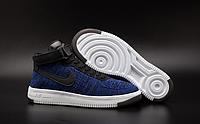 Мужские кроссовки  Nike Air Force 1 high Flyknit (navy/black) - 23Z