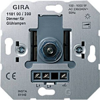 Механизм светорегулятора для ламп накаливания 100-1000Вт Gira 118100
