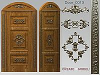 Резной деревянный декор для двери Д 001
