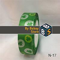 Атласная лента принт 25 мм, (23м/моток), лента атлас принт 2,5 см., атласные ленты принт