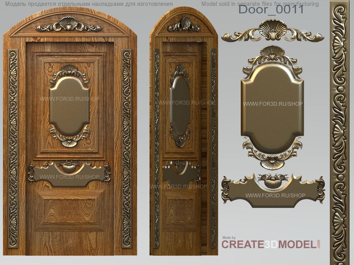 Декор резной для дверей. Д 002