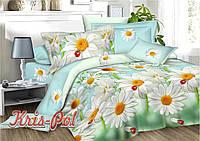 Комплект постельного белья 3D семейный, полиэстер. Постільна білизна. (арт.6338)
