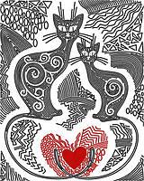 Рисунок на атласе для вышивания бисером Узоры любви AK3-192
