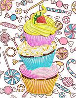 Рисунок на атласе для вышивания бисером Десерт с клубникой AK5-012