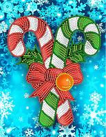 Рисунок на атласе для вышивания бисером Рождественские карамельки AK5-015